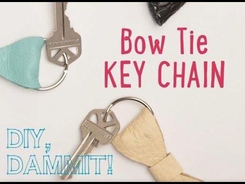 HOW TO MAKE A BOW TIE KEYCHAIN -- DIY, DAMMIT!