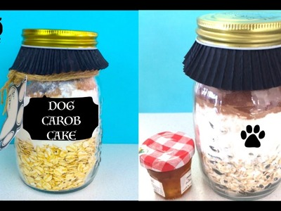 How to make Mason Jar Cake - Pupcake Dog Cupcake Gift - DIY Dog Food by Cooking For Dogs