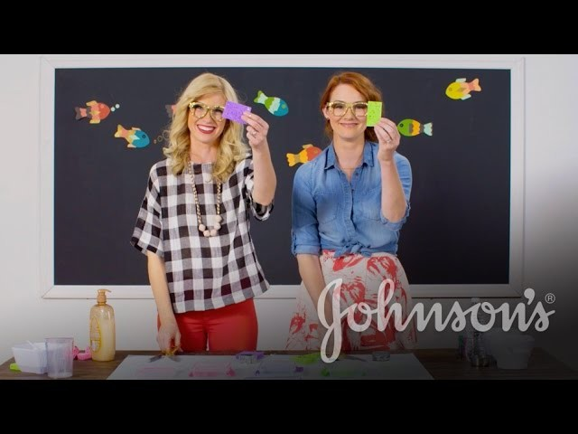 Make DIY Fun Bath Paints with The Girls With Glasses | JOHNSON'S®
