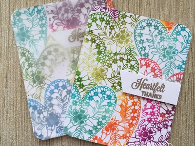 Masked Hearts and DIY Custom Blend Distress Ink Pads