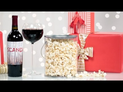 Olivia Pope's Truffle Popcorn and Wine For the Scandal Fan | DIY Food Gifts