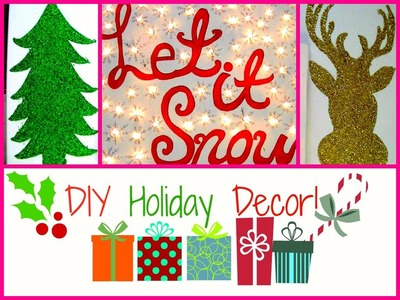 ❄ Simple & Easy DIY Holiday Wall Decor! ❄