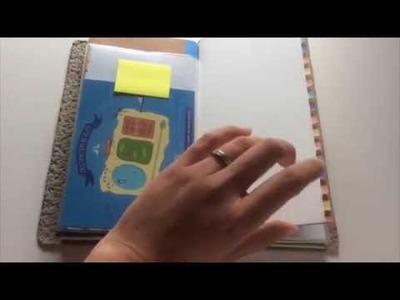 The Scrounge-adori (My DIY temporary Midori Traveler's Notebook)