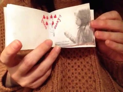 Valentine Gift for him 2014 --  DIY flipping book