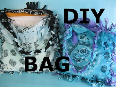 DIY Bandana Bag Purse Easy Home NO SEW Project Make It Yourself Tote