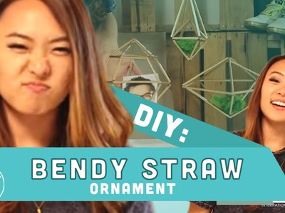 DIY Bendy Straw Ornament! - FINDERS FLIPPERS Ep. 2 w. Yuri Tag
