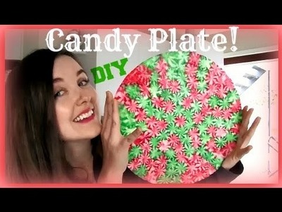 DIY Christmas Candy Plate | Crafty Christmas Collab | VLOGMAS day 6