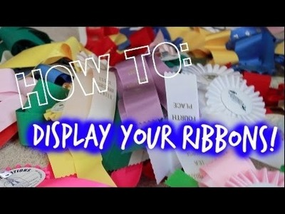 DIY: Cute, Simple Way to Display Ribbons!