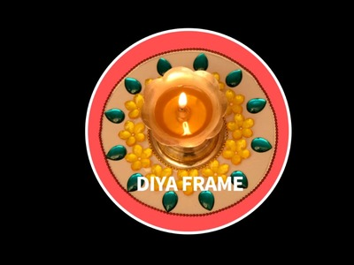 DIY : Diya Frame | Simple Diwali Diyas | Diyas Decoration