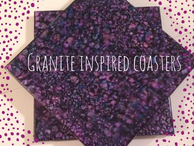 DIY Granite Inspired Coasters