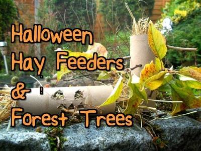 DIY Halloween Hay Feeders & Forest Trees   RosieBunneh