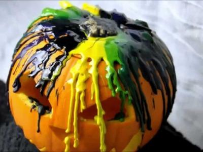 DIY Melted Crayon Pumpkin Time Lapse