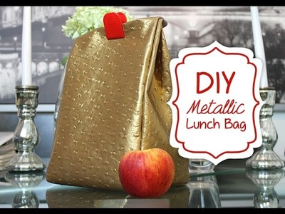 DIY: Metallic School.Work Lunch Bag
