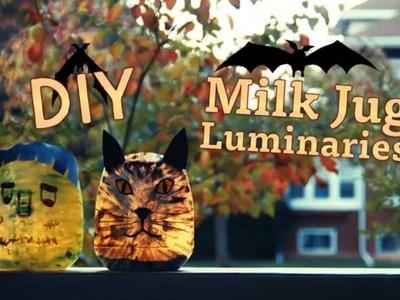DIY - Milk Jug Luminaries!