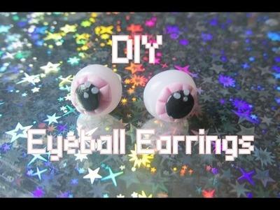DIY Pastel Goth Eyeball Earrings