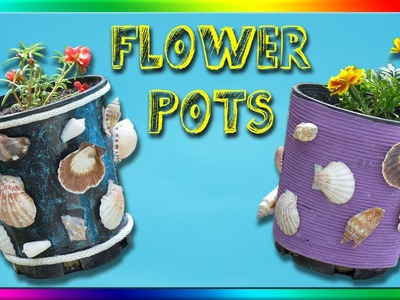 DIY Recycled Flower Pots - 5 Styles
