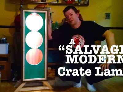 "DIY ""Salvage Modern"" Wood Crate Lamp (Homemade Furniture- Ikea)"