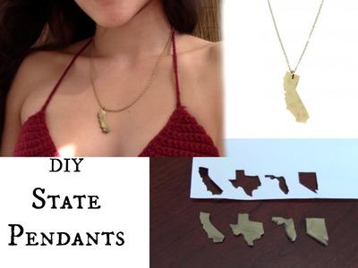 DIY State Pendants