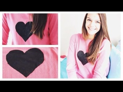 DIY Valentine's Day Heart Sweater ❤