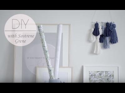 DIY: Woven wall hanging by Søstrene Grene