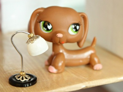 EASY LPS DIY How to make a miniature lamp for dollhouse