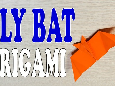 Flying Bat Paper Airplane Origami