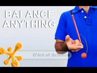 How to Balance a pencil on it's tip - Cool DIY Science Experiment based on CG - dartofscience