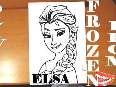How to draw ELSA from FROZEN FEVER Easy DISNEY,draw easy stuff but cool.cute on paper,SPEED ART