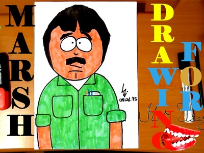 How to draw RANDY MARSH from SOUTH PARK characters Easy,draw easy stuff but cool,SPEED ART