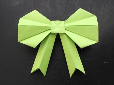 How to make a 3D paper Bow