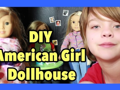 How to make an American Girl DIY Doll House for Craft Monday- Day 799 | ActOutGames
