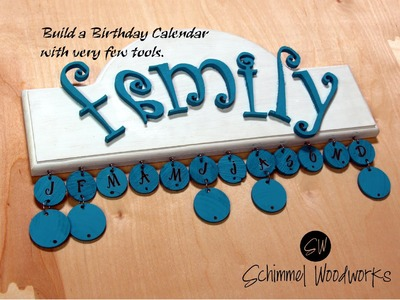 Make an (almost) NO TOOL Birthday Calendar   Easy DIY Wall hanger