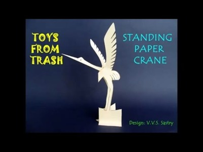 STANDING PAPER CRANE - HINDI - AMAZING 3D PEACE SYMBOL
