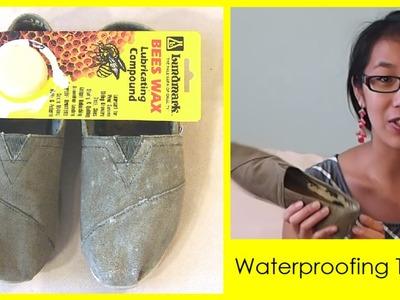 Waterproofing your TOMS | Pinterest DIY