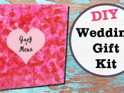 Wedding Canvas Gift Kit DIY