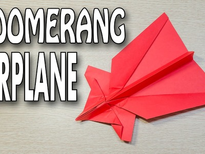 Zoomerang Paper Airplane Origami Tutorial