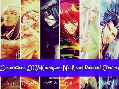 Anime Decorations DIY: Kamigami No Asobi Poloroid Charm Bracelet