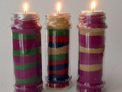 Create Unique and Pretty Sand Candles - DIY  - Guidecentral