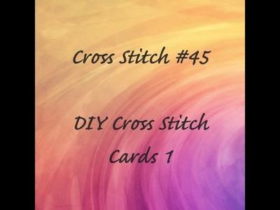 Cross Stitch #45 - DIY Cross Stitch Cards 1 (Double Fold Aperture Card)