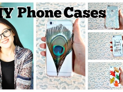 DIY 5 Easy Phone Cases | Feathers, Quotes, Confetti, Seasonal  |  Make it Fancy  |  Fiona Frills