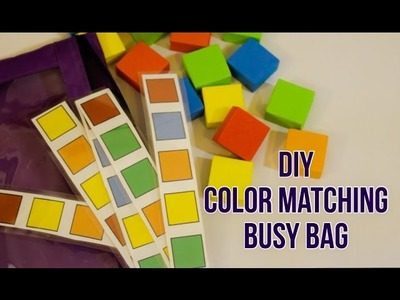 DIY Busy Bag with Colored Blocks