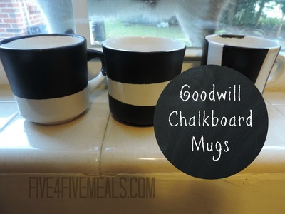 DIY Cheap Chalkboard Mugs