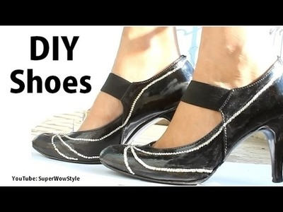 DIY Crafts - Bling Shoes DIY Fashion  | superwowstyle