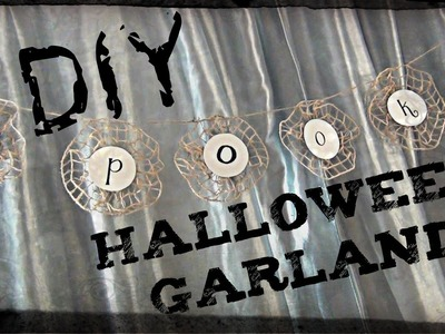 "DIY Décor ♥ ""Spooky"" Halloween Garland"