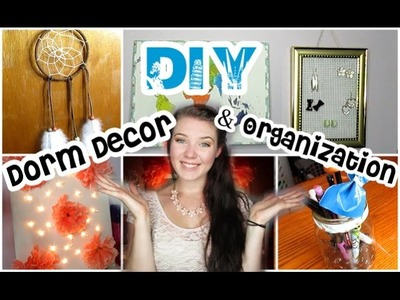 DIY Dorm Decor + Organization Tips! | #BTSwithAmanda