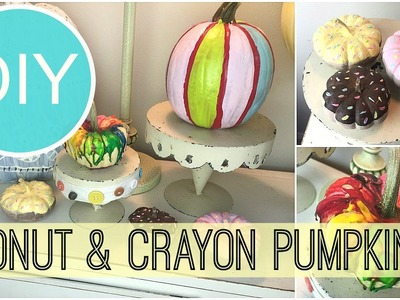 DIY Fall Room Decor | Donut, Striped & Crayon Melt Pumpkins | by Michele Baratta