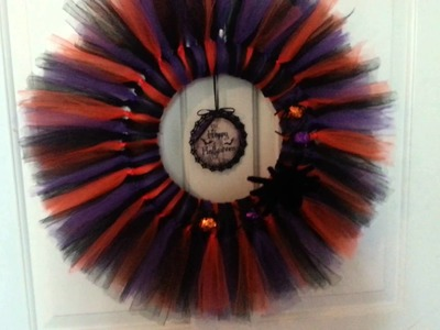 DIY Halloween Tulle Tutu Wreath Share