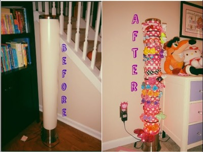 DIY: How to Repurpose an Old Lamp into a cute Headband Organizer. Holder