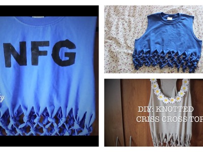 DIY: Knotted Criss Cross Crop Top | heyimvicky