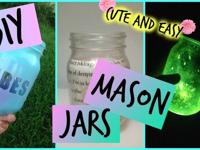 DIY : mason jars ! room decor + more cute.easy.cheap